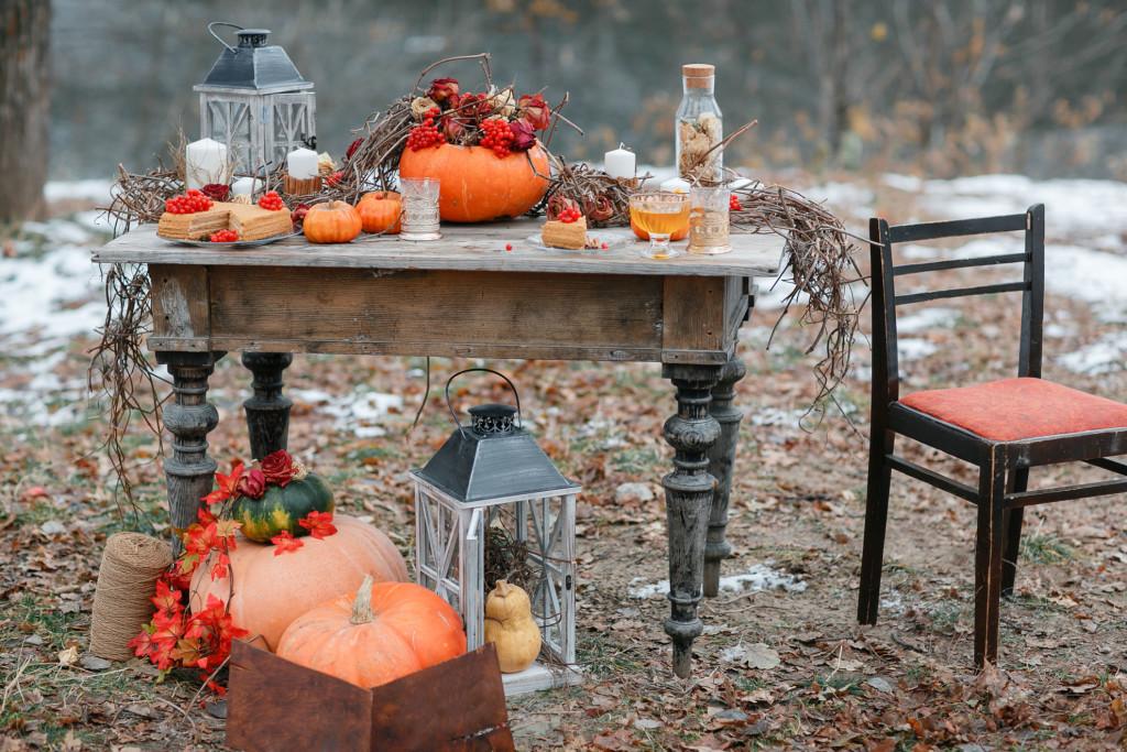 Un romantico allestimento per la cena di Halloween - Bon bon flower edf2db942f01